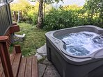 Soak your cares away in this 4-person hot tub.