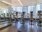 Amazing building amenities: indoor pool, change room with lockers, 24hrs gym, etc. on the M floor