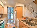 Cooking for 9 is an effortless task in this fully equipped kitchen.