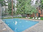 Take a break from the lake and spend an afternoon by the community pool.