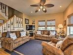 A spacious, open-concept floor plan welcomes you inside.