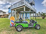A golf cart is available at the property for an additional daily fee.
