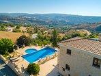 Aerial view of Villa Fotini