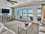 You'll spend most of your time on the beach, but the living space is cool and comfortable after a long day in the sun