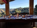 Dinning with forest view