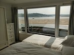 The front bedroom looking across the Estuary to Rock. Twin beds and en-suite shower room.