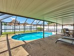 Private Screened in pool with Seating. Pool Heat Optional Add-On.