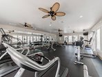 Sneak away for a quick workout at the nicely equipped Beach Club fitness room.