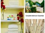 Towel set and complete Bathroom Amenities
