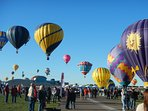 The annual international hot air balloon fiesta in Albuquerque, every October