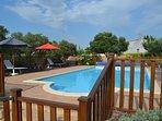 Swimming pool area with a 10 metre x 5 metre pool
