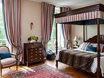 A handsome bedroom.