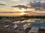 Sunrise pool side.