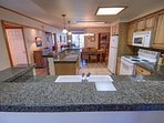 Open Kitchen layout fully equipped with all your cooking needs.