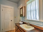 You'll love the rustic vanity.