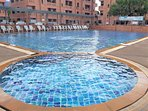 Santitham Plaza Swimming Pool - 300 meter from the house - 5 minutes on foot. Adult - 50 Baht.