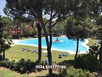 The fabulous main swimming pool and its surrounding gardens