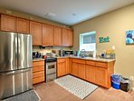 Enjoy the convenience of a well-equipped kitchenette in the basement.