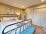 Sleep soundly in this king beg in the second bedroom.
