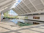 The beautiful indoor HEATED swimming pool with stunning views of the nature reserve