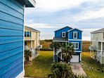 Ocean views from front house windows. Less than a 5-min stroll to have your toes in the ocean!