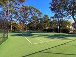 Full sized tennis court