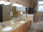 Wisconsin Dells Getaways #313 Bathroom with Tub and Shower (2)
