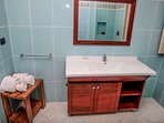 Full furnished bathroom with shower