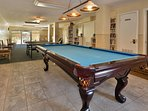 Pool table in clubhouse.