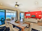 The penthouse is very spacious, 4650 sq. ft. It can easily accommodate 8 people
