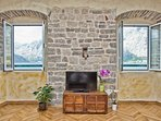 Views of the mountains and Kotor Bay from The Stone House, 165 Prcanj