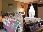 Moose Alley bedroom with queen bed