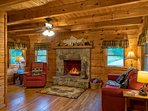The Family Room and Fire Place