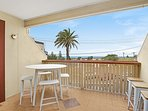 The balcony of Oceanview Terrace three bedroom Terrace House.