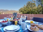 Would you like a breakfast on the terrace with mountain view?