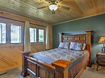 Rest up in this queen bed for another day on the lake.