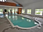 Enjoy the indoor pool at The Club at Christmas Mountain included free with your rental