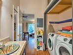 Utilize the full-size in-unit laundry machines during your stay.