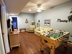 Rec Room - 2nd level with Foosball Table and queen sleeper sofa (another view)