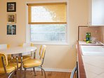 Garden Cottage kitchen offers dining for four and all the amenities needed for today's cooks.