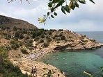 Overlooking La Almadrava Cove