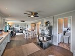 Hardwood floors flow throughout the main living space.