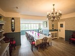Large dining room to comfortably seat your whole party