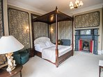 The Imposing Room 2 on the ground floor with an en suite shower and king size 4 poster bed