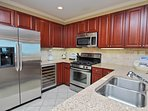 Wine Cooler, Stainless Appliances, Granite Countertops
