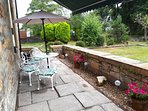 Rear patio and private enclosed garden