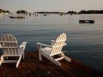 Sunbathe or swim off the dock!