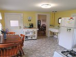 Eat-in kitchen with easy access to the porch - 38 Pleasant Street Harwich Port Cape Cod New England Vacation Rentals