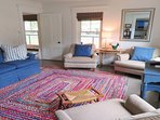 Living room -plenty of comfy seating- 38 Pleasant Street Harwich Port Cape Cod New England Vacation Rentals