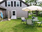 Outdoor dining- 38 Pleasant Street Harwich Port Cape Cod New England Vacation Rentals